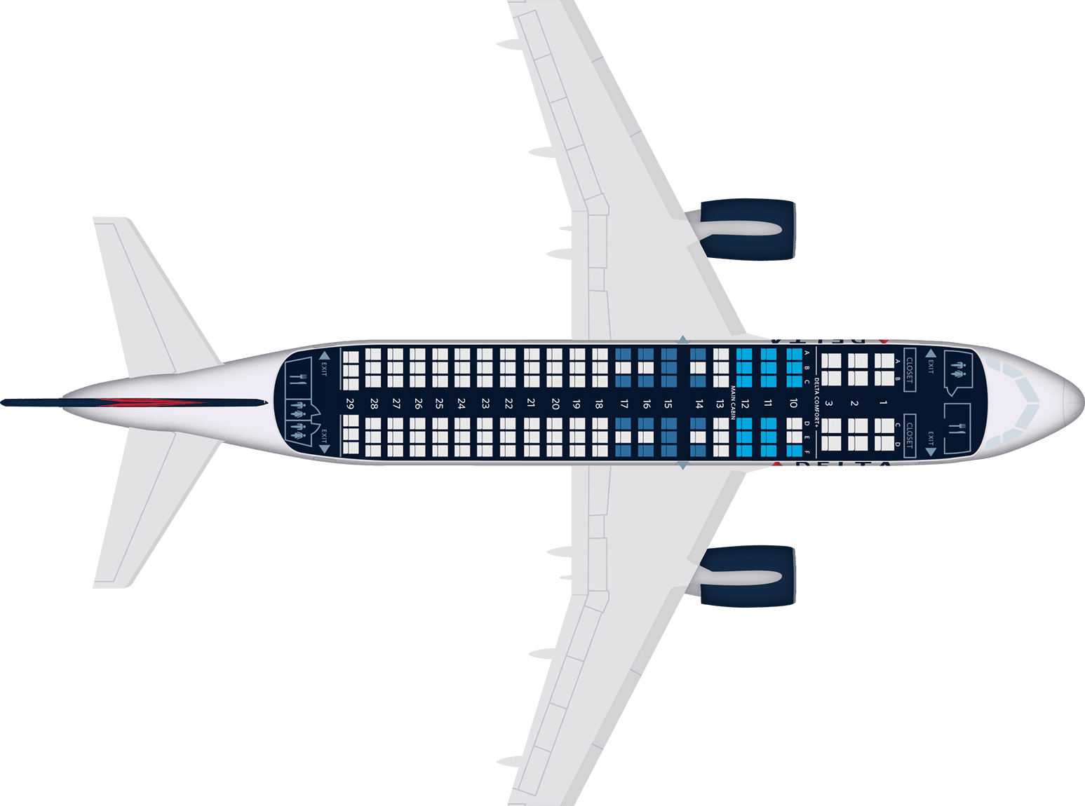 A319 Seat Map