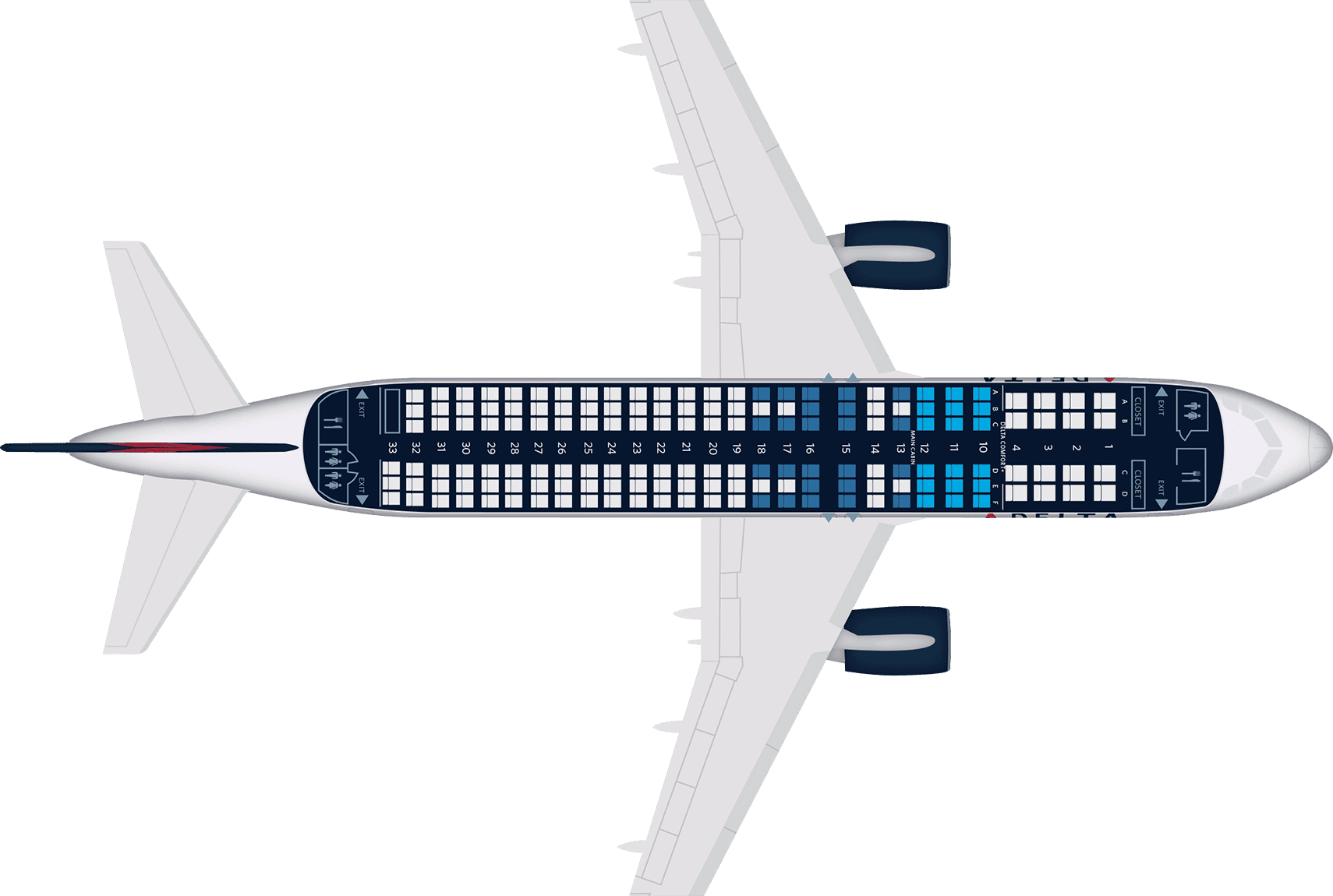 A320 Seat Map